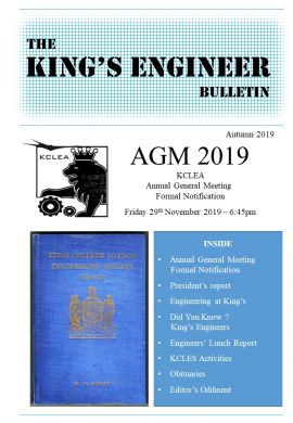 King's Engineer Bulletin No. 7
