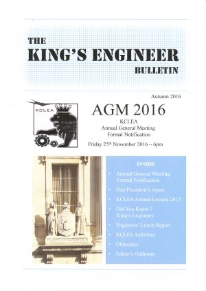King's Engineer Bulletin No. 1