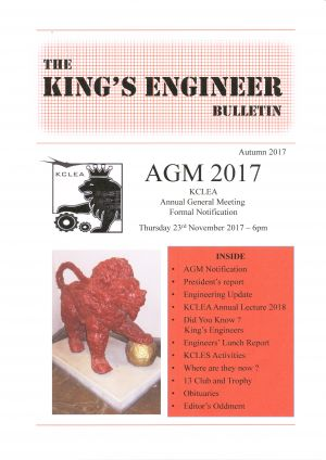 Kings Engineer Bulletin No. 3