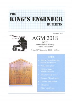 King's Engineer Bulletin Number 5